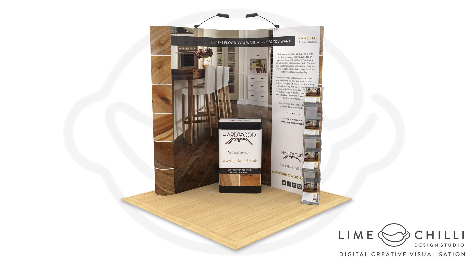 Exhibition Stand Visualisation : Lime and chilli design studio portfolio